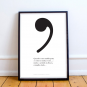 PRINTS AMUSEMENT WITH PUNCTUATION MARKS